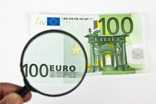 Free Magnifying Euro Royalty Free Stock Photography - 14699187