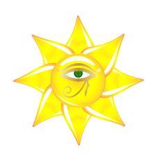 Free Egyptian Eye On The Sun Glass Stock Photo - 14699820
