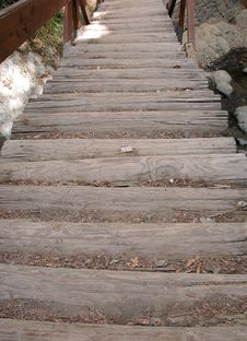 Free Wooden Stairway In A Mountain Stock Photography - 1470052