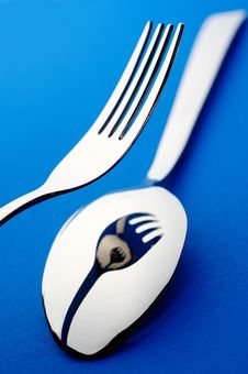 Knife Fork And Spoon Stock Photo