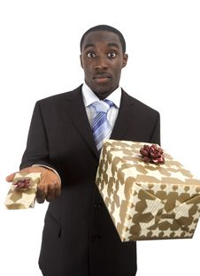 Big Or Small Gift Stock Photography