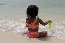 Free Girl On Beach Royalty Free Stock Photo - 1470745