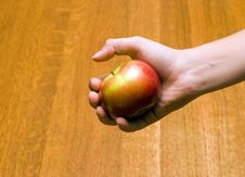Free Apple In Hand Royalty Free Stock Image - 1471986