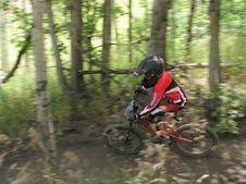 Free Child Mountain Bike Motion Pan Stock Photo - 1472590