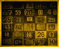 Free Grunge Background With Numbers Royalty Free Stock Image - 1474686