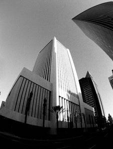 Fisheye Buildings Stock Photography
