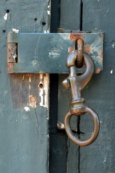 Shed Door Latch Stock Photo