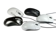 Five Mouses Royalty Free Stock Photos