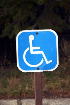 Sign - Parking Lot For Wheelchair Stock Photography