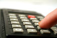 Calculator Keyboard Royalty Free Stock Photography