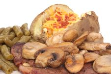 Steak And Mushrooms Stock Image