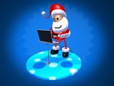Free Santa Claus Surfing Stock Photography - 1478112