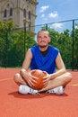 Free Basketball Player With Basketball Ball Stock Photos - 14702263