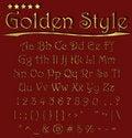 Free Alphabet Golden Style Royalty Free Stock Image - 14705176