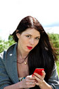 Free Young Cute Women With Mobile Phone Stock Photography - 14707022