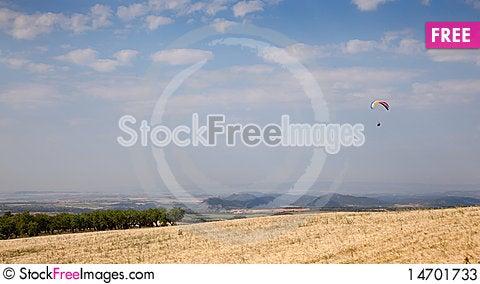 Paraglider Stock Photo