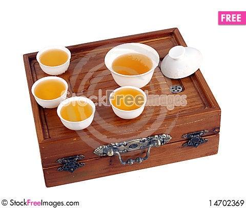 Green tea set Stock Photo