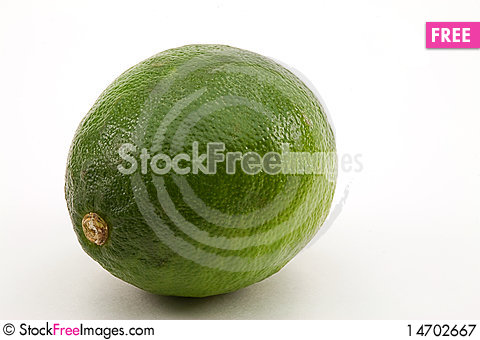 Whole Lime Stock Photo