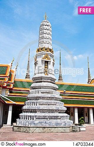 Wat Pho Temple of the Reclining Buddha Stock Photo
