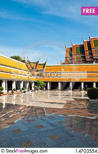 Wat Suthat thai temple Stock Photo