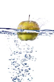 Free Apple Splash In Water Stock Photo - 14700230