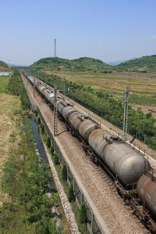 Free Rail Transport Of Oil Royalty Free Stock Photo - 14701945