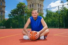 Free Young Man With Basketball Ball Stock Photos - 14702253