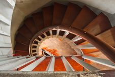 Free A Wood Spiral Staircase Stock Images - 14702264