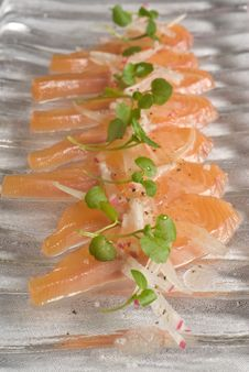Cured Rainbow Trout Stock Image