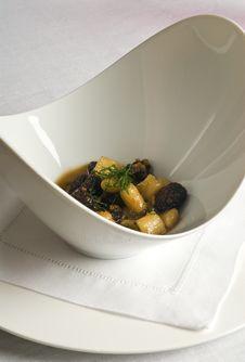 Free Roasted Mushrooms With Gnocchi Stock Image - 14702541