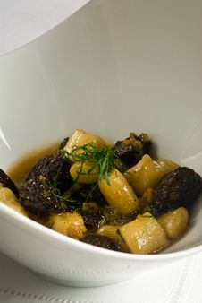 Free Roasted Mushrooms With Gnocchi Stock Images - 14702544