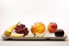 Free Organic Fruit On Picnic Serving Tray Royalty Free Stock Photos - 14702698