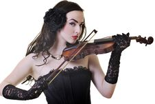 Free Beautiful Young Lady Play Violin Stock Photography - 14703292