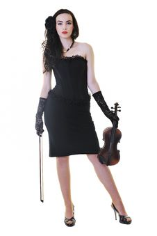 Free Beautiful Young Lady Play Violin Stock Photography - 14703302