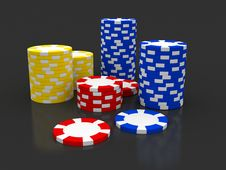 Free Casino Roulette S Chips Stock Photography - 14704002