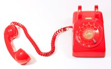 Free Classic 1970 - 1980 Retro Dial Style Red House Tel Royalty Free Stock Image - 14704076