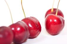 Free Red Cherry On White Background Royalty Free Stock Photography - 14704107