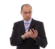 Free Business Man Making A Call Stock Photography - 14704222