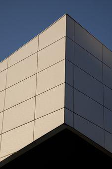 Vertical Minimal Building Corner Royalty Free Stock Photos