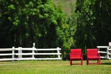 Free Red Chairs Royalty Free Stock Photography - 14704997