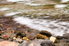 Free Sea-wave And Stones At The Coastline. Royalty Free Stock Image - 14705056