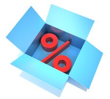 Free Percent Symbol Laying In To The Box Royalty Free Stock Photography - 14705097