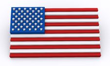 Free USA Flag In 3d Shapes Royalty Free Stock Image - 14705146