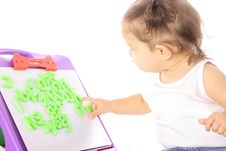 Free Little Girl Playing With ABC Royalty Free Stock Photos - 14705938