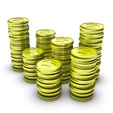Free Stock Of Dollar Coins Royalty Free Stock Image - 14706046