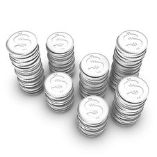 Free Stock Of Dollar Coins Royalty Free Stock Images - 14706059