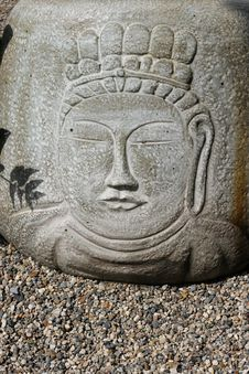 Free Buddha S Face On Stone Stock Photo - 14706060