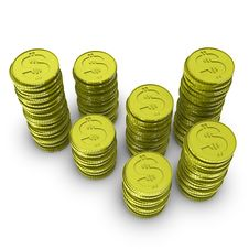 Free Stock Of Dollar Coins Stock Photography - 14706082