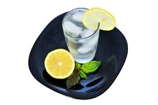 Free Glass Of Water With A Lemon 2 Royalty Free Stock Photography - 14707147