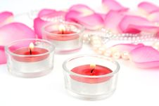 Free Petals Of Roses And Candles Stock Photography - 14707152